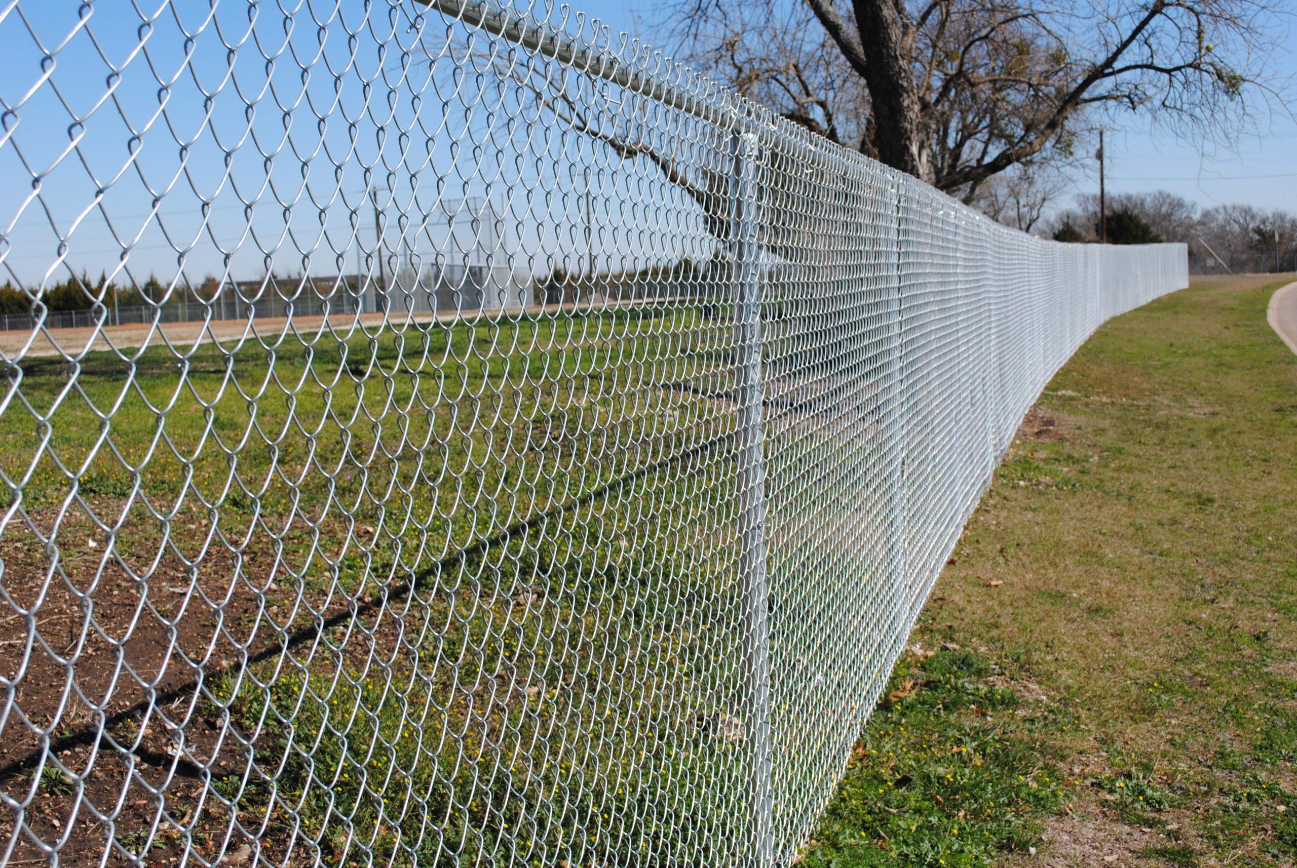 забор из сетки рабицы Оцинкованная